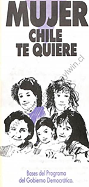 Las mujeres de Chile proclaman a Patricio Aylwin candidato a la presidencia de la república.